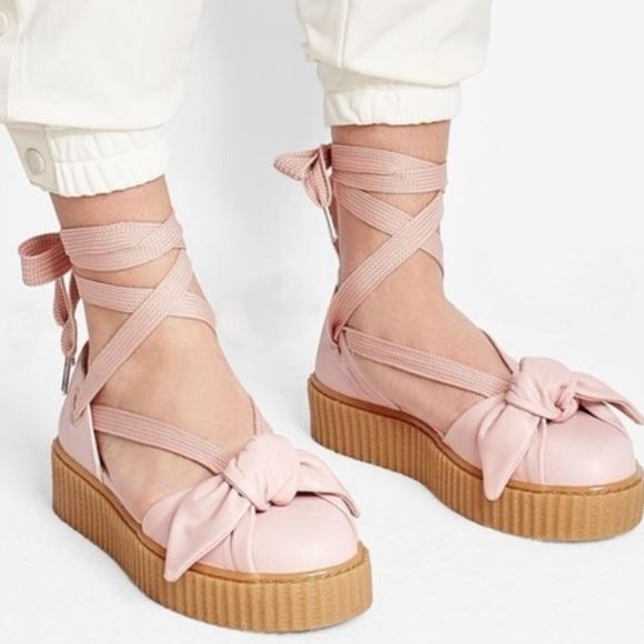 Rihanna Fenty Ballerina Bow Creeper Sandals. M 5ad2426450687c25f78cd466 cb0cb0b9b